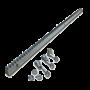 Cremaliera metalica zincata 30x12 mm - lungime 1M CRM4