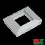Rama alba simpla pentru aparataj 45x45 mm (2 module) - DLX DLX-102-11