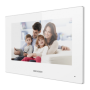 Monitor videointerfon TCP/IP Wireless, Touch Screen TFT LCD 7inch , alb - HIKVISION DS-KH6320-WTE1-W