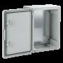Cutie distributie IP65 din ABS gri, usa mata, placa metalica, 300x400x220 mm PP3005